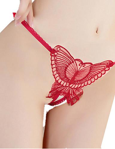 Femme Jacquard strings & Tangas Fin - Rayonne Nylon Noir Violet Rouge Rose