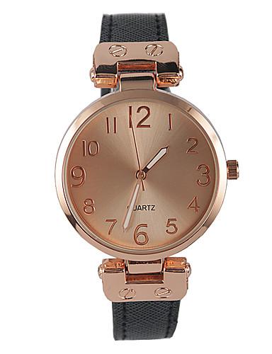 Mulheres Relógio de Moda Quartzo Relógio Casual PU Banda Pendente Preta Preto