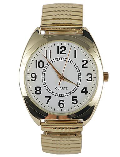 Masculino Relógio de Moda Quartzo Impermeável Aço Inoxidável Banda Pendente Dourada Dourado