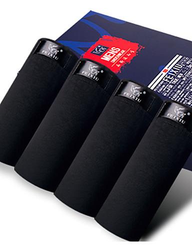 SHINO® Algodão / Fibra de Carbono de Bamboo Boxer Curto 4 / caixa-F011