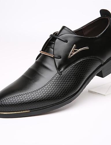billige Oxford-sko til herrer-Herre Formell Sko Lær Vår / Høst Forretning Oxfords Svart / Brun / EU40