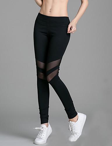 Damer Ensfarvet Legging,Spandex