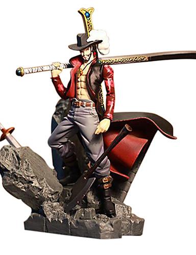 baratos Cosplay Anime-Figuras de Ação Anime Inspirado por One Piece Dracula Mihawk PVC 15 cm CM modelo Brinquedos Boneca de Brinquedo
