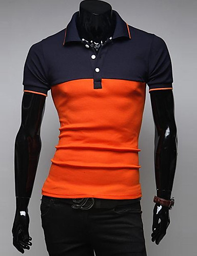 Herre - Patchwork Sport Polo Bomuld