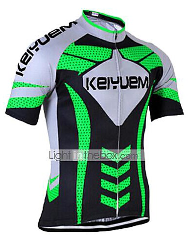 cheap Cycling Jerseys-KEIYUEM Men's Women's Short Sleeve Cycling Jersey Bike Jersey Top Breathable Quick Dry Ultraviolet Resistant Sports Coolmax® 100% Polyester Silicon Clothing Apparel / Stretchy / Back Pocket