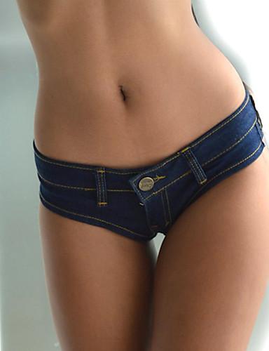 Kvinner Sexy Rett Bukser Polyester Mikroelastisk