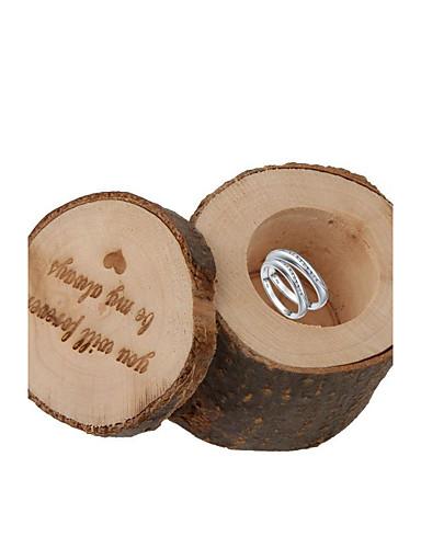 Kreisförmig Quadratisch Zylinder Holz Geschenke Halter mit Print Geschenkboxen Geschenk Schachteln - 1