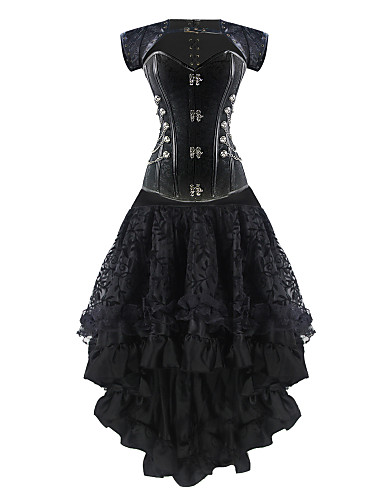 burvogue kvinders steampunk korset kjole