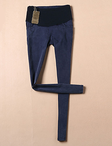 Damen Hose - Einfach Schlank Baumwolle Dehnbar