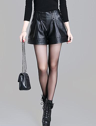 Dame Plusstørrelser Jeans Bukser Ensfarvet Højtaljede