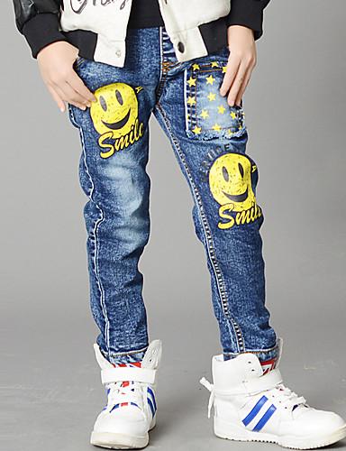 Infantil Para Meninos Desenho Estampado Algodão Calças / Jeans