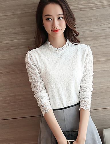 Dames Street chic Winter Herfst T-shirt,Dagelijks Effen Strakke ronde hals Mouwloos Polyester Medium