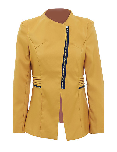 Women's Cotton Jacket - Solid Colored