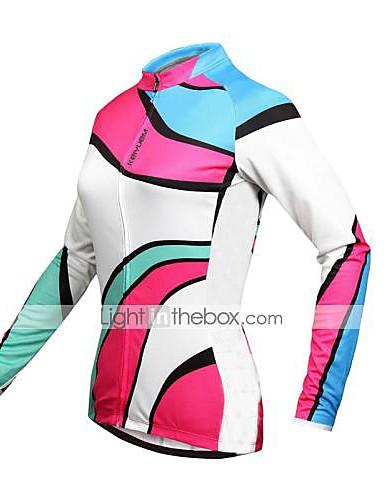 cheap Cycling Clothing-骑缘 Cycling Jersey Women's Men's Unisex Long Sleeve BikeWaterproof Breathable Quick Dry Anatomic Design Rain-Proof Waterproof Zipper