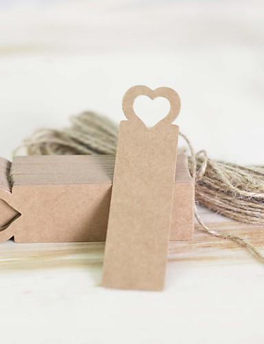 Tema Jardín Tema Clásico Pegatinas, Etiquetas y Etiquetas - 100 Redondo Cuadrado 5cm Corazón Decoración de Boda Única Etiquetas