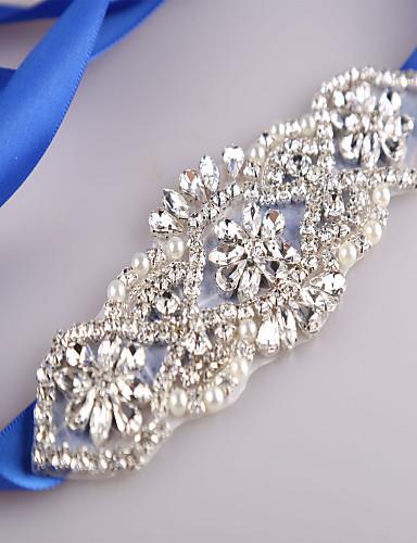 Dame Fest Kontor Aktiv Grunnleggende Smalt belte Geometrisk Perle Kubisk Zirkonium