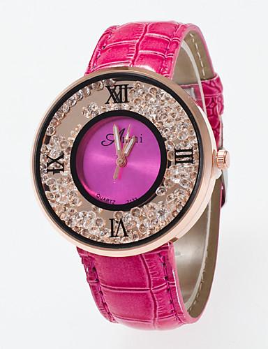 Dames Polshorloge Zwevende kristallen horloge Kwarts / PU Band Vrijetijdsschoenen Wit Blauw Rood Bruin roze