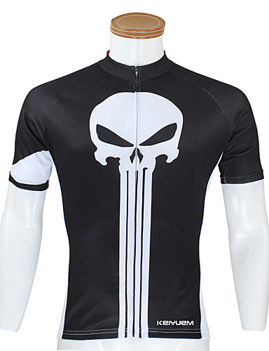 cheap Cycling Clothing-KEIYUEM Men's Women's Unisex Short Sleeve Cycling Jersey Bike Top Waterproof Breathable Quick Dry Sports Terylene Clothing Apparel / Waterproof Zipper / Anatomic Design / Stretchy / Anatomic Design