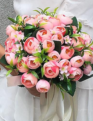 Bouquets de Noiva Buquês Casamento / Festa / Noite Cetim 9.84
