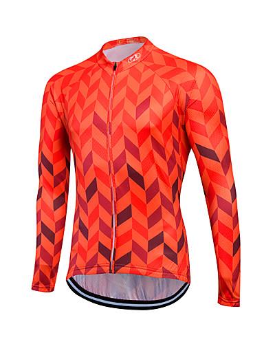 cheap Cycling Clothing-Fastcute Men's Women's Long Sleeve Cycling Jersey - Skin Red Plus Size Bike Sweatshirt Jersey Top Breathable Quick Dry Reflective Strips Sports Coolmax® 100% Polyester Mountain Bike MTB Road Bike