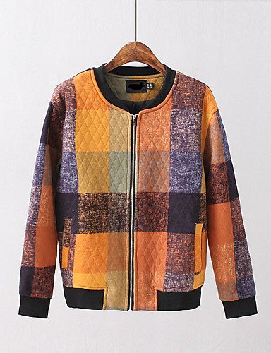 Damen Einfarbig Einfach Sport Ausgehen Jacke,Rundhalsausschnitt Frühling Herbst Langärmelige Standard Andere