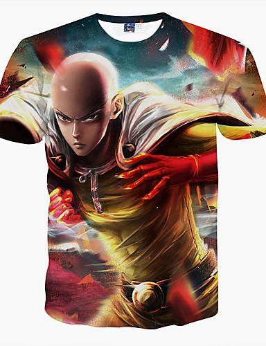 Heren Print T-shirt, Sport
