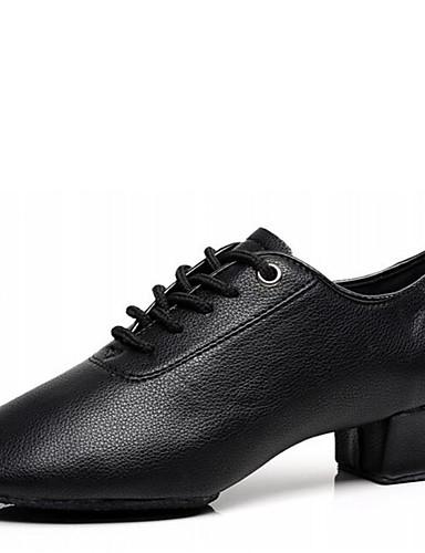1db8b09271c47 للرجال أحذية رقص جلد كعب كعب منخفض غير مخصص أحذية الرقص أسود   داخلي