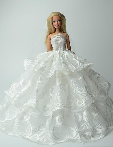 6ff1a4c61a16 Γάμος Φορέματα Για Barbiedoll Δαντέλα   Organza Φόρεμα Για Κορίτσια κούκλα  παιχνιδιών