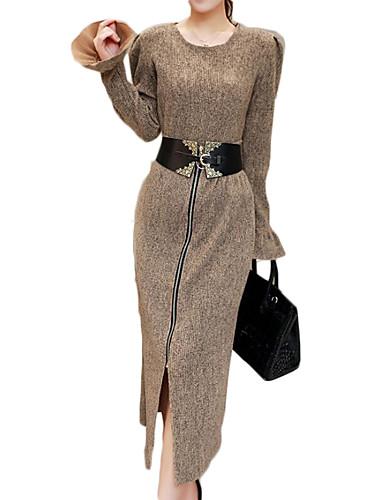 女性用 プラスサイズ ブラウス セット ソリッド スカート