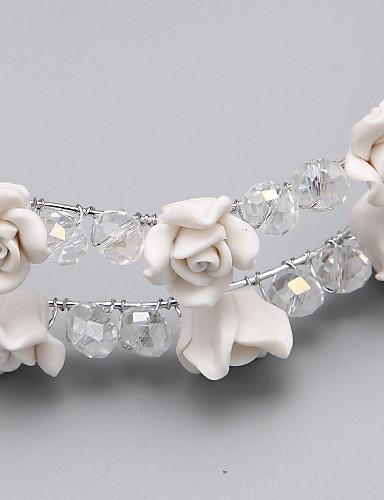billige Bryllup- & Eventsalg-harpiks legering blomster headpiece bryllupsfesten elegant feminin stil