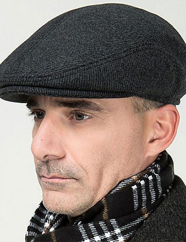 ユニセックス ツイード ベレー帽,ヴィンテージ / オフィス / カジュアル オールシーズン