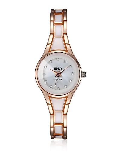 Dames Modieus horloge Armbandhorloge Kwarts Waterbestendig Legering Band Bedeltjes Vrijetijdsschoenen Zwart Goud Goud Zwart