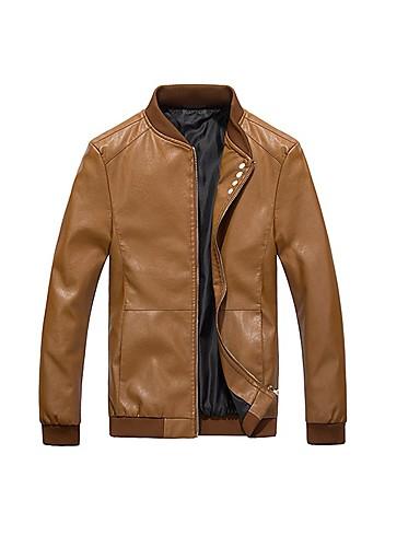 cheap Outdoor Clothing-Men's Hiking Jacket Outdoor Spring Fall Waterproof Thermal / Warm Front Zipper Comfortable Jacket Leisure Sports Dark Navy / Fuchsia / Khaki / Winter