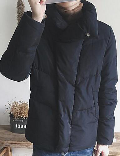 コート レギュラー パッド入り メンズ,カジュアル/普段着 ソリッド ポリエステル ポリエステル-シンプル 長袖