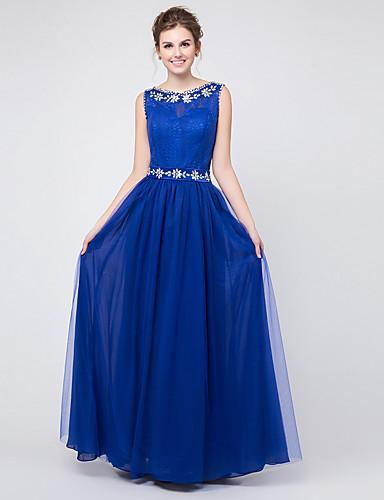 アップリケのクリスタルディテール付きaラインジュエルネックフロアレングスシフォンウエディングドレス