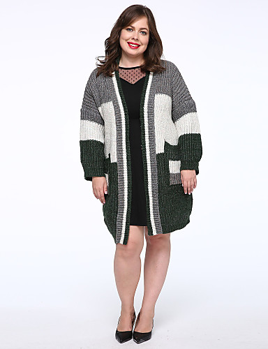 Mujer Casual Cardigan - Bloques