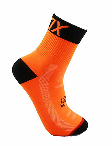 cheap Cycling Clothing-Compression Socks Sport Socks / Athletic Socks Crew Socks Cycling Socks Men's Football / Soccer Cycling / Bike Bike / Cycling Breathable Wearable 1 Pair Winter Solid Color Chinlon Orange Green Blue
