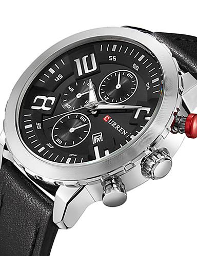 Herrn Herren Sportuhr Militäruhr Kleideruhr Modeuhr Armbanduhr Armband-Uhr Armbanduhren für den Alltag Japanisch Quartz Kalender Großes