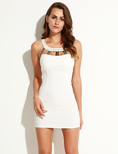 23c66f37979 Γυναικεία Κλαμπ Σέξι Εφαρμοστό Φόρεμα,Μονόχρωμο Αμάνικο Τιράντες ...