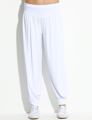 Women's Loose Loose Sweatpants Pants - Solid Low Rise