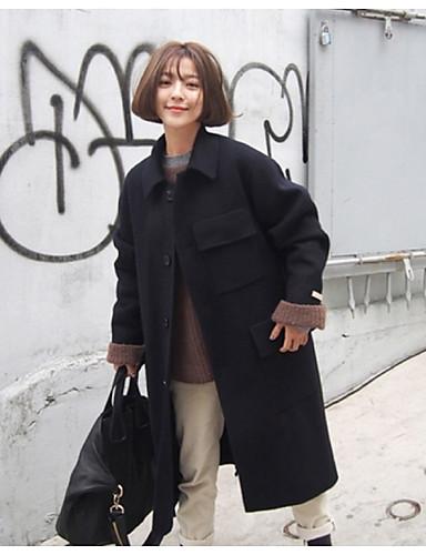 UllSkjortekrage Høst Vinter Dame
