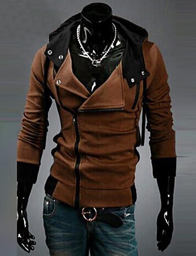 Férfi Extra méret Sport Hétvége Aktív Vékony Hoodie Jacket Egyszínű
