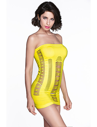 Women's Casual Bodycon Dress - Solid Colored Strapless