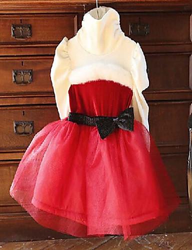 Mädchen Kleid Lässig/Alltäglich einfarbig Baumwolle Frühling Herbst Winter Lange Ärmel