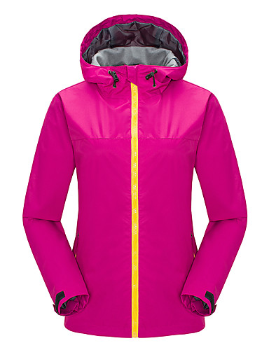 cheap Cycling Clothing-Women's Softshell Jacket Outdoor Waterproof Thermal / Warm Windproof Fleece Lining Spring Fall Winter Tracksuit Skiing Camping / Hiking Leisure Sports Black Fuchsia Light Red L XL XXL