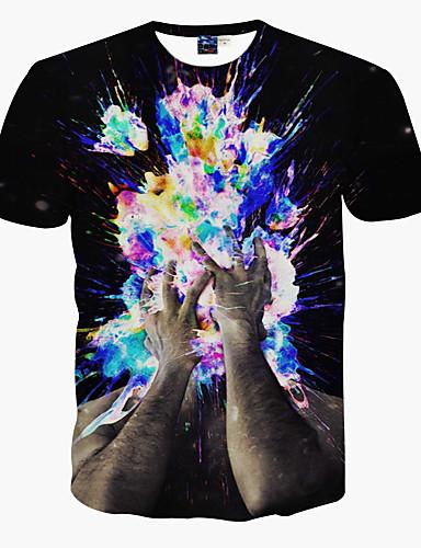 男性用 プリント Tシャツ キュート パンク&ゴシック ストリートファッション