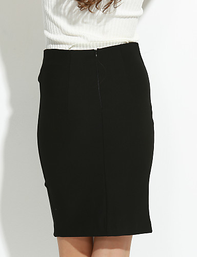Damen Röcke  -  Übergröße / Street Schick Übers Knie Polyester Mikro-elastisch