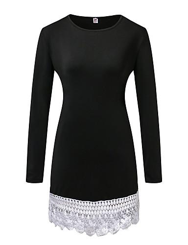 eBayのAliexpressの新しい女性'ヨーロッパやアメリカでの長袖のドレスのステッチのレースの外国貿易の爆発モデル