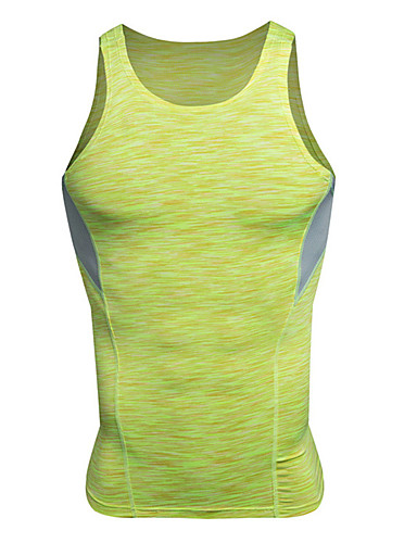 cheap Outdoor Clothing-Men's Sleeveless Hiking Tee shirt Outdoor Spring Summer Breathable Quick Dry Comfortable Wear Resistance Compression Clothing Top Red Ginger Gray Yoga Camping / Hiking Exercise & Fitness / Winter