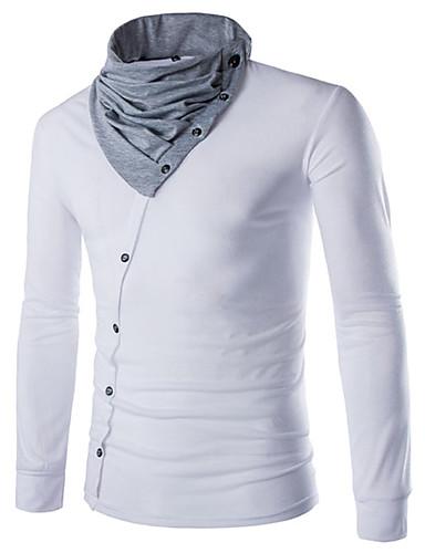 Miesten Pyöreä kaula-aukko Puuvilla Urheilu T-paita, Yhtenäinen Color Block